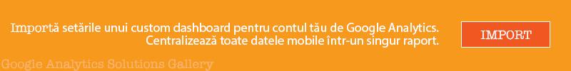 Google Analytics mobile dashboard