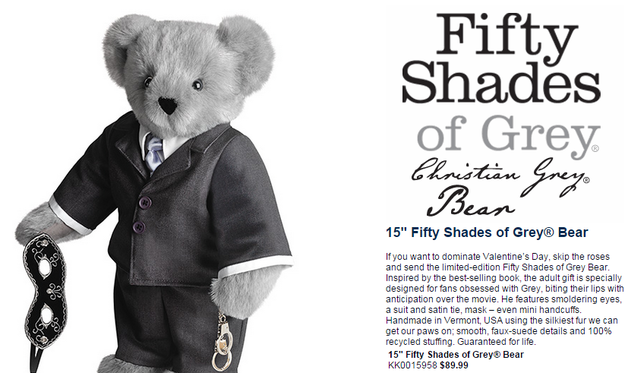 fifty shades of grey teddy bear