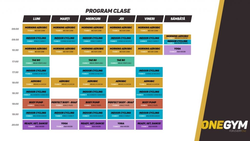 program clase one gym