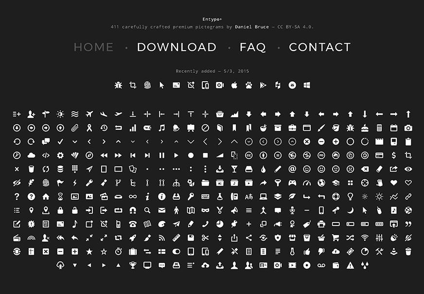 Entypo icons
