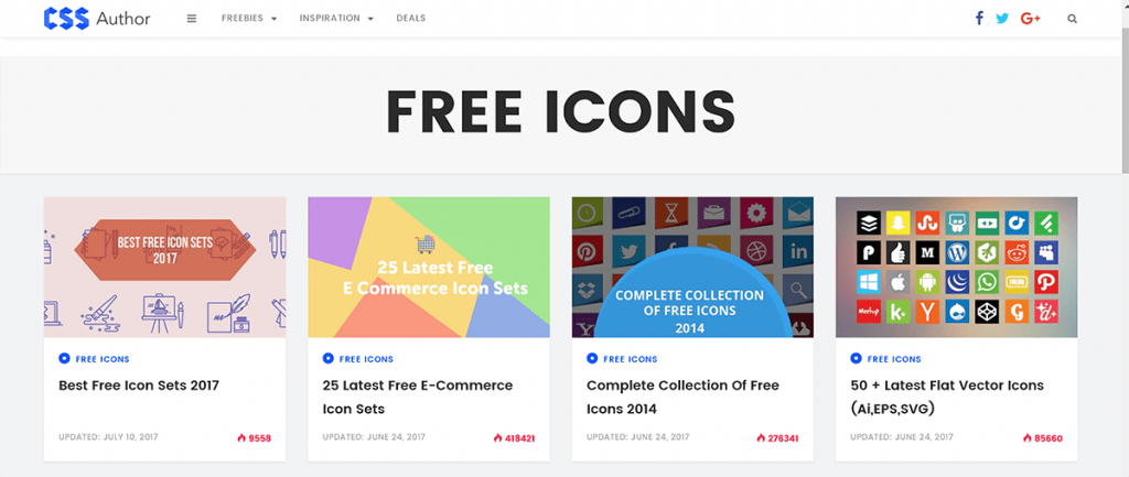 Free Icons Archives » CSS Author