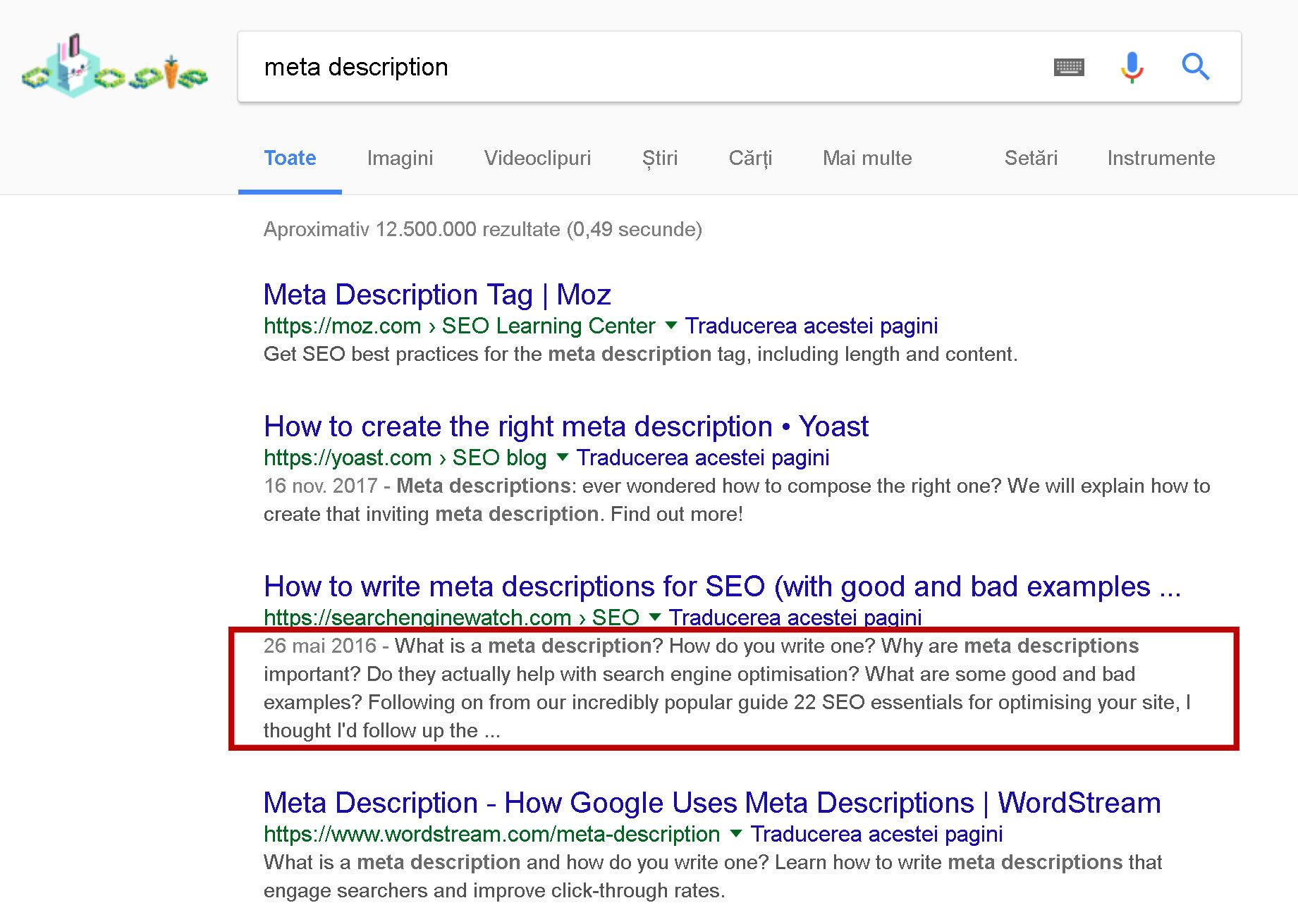 meta-description---Căutare-Google