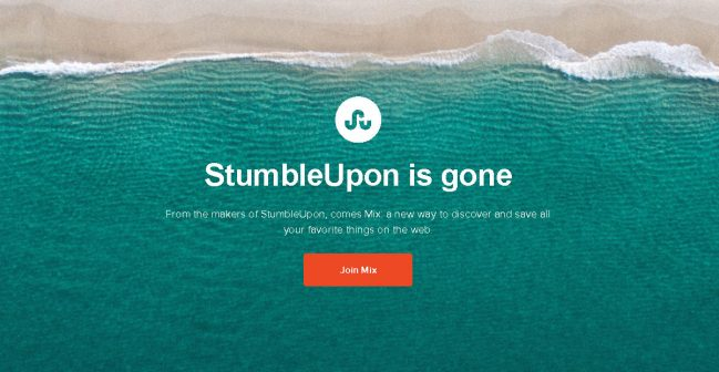 StumbleUpon-gone
