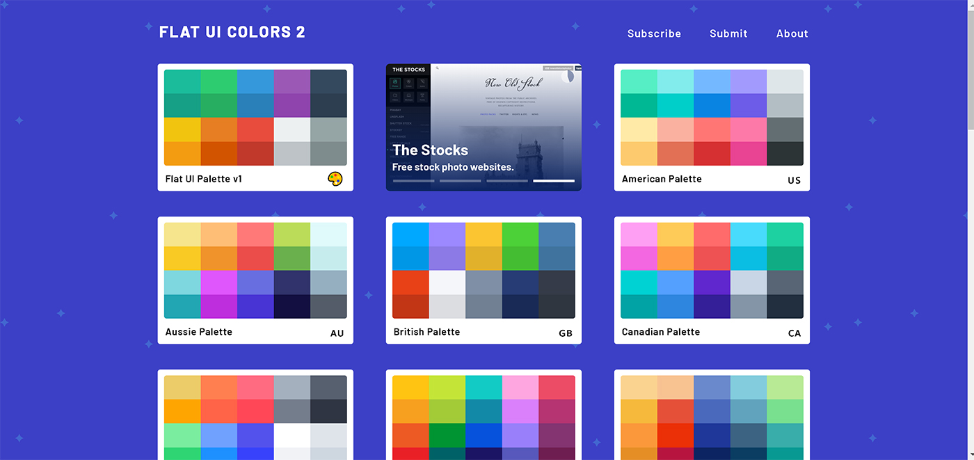 paleta de culori flat